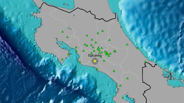 Registran sismo de magnitud 4,6 en Costa Rica