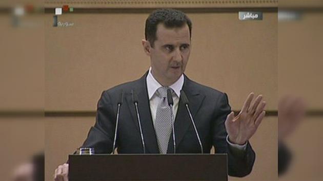 Al Assad denuncia la intromisión de otros países en los asuntos sirios y anuncia reformas