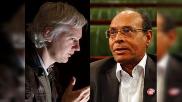Assange entrevista al presidente de Túnez, líder del primer fruto de la 'primavera árabe'