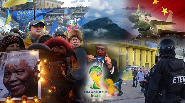Balance semanal: Muerte de Mandela, protestas en Ucrania y sorteo del Mundial