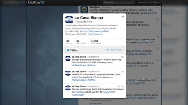 El Departamento de Estado de EE. UU. comienza a tuitear en español