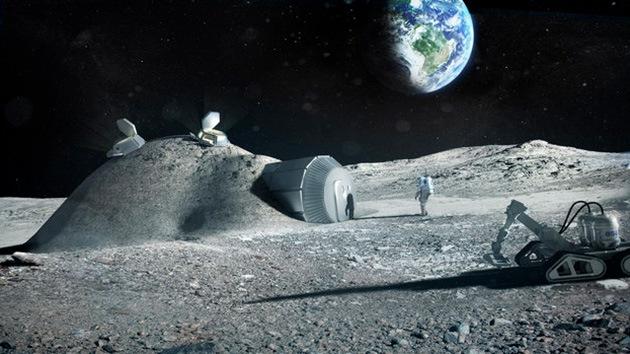La Agencia Espacial Europea montará sus bases en la Luna con impresoras 3D