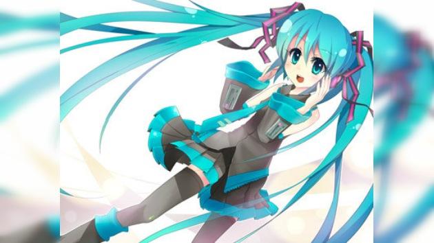 La primera cantante virtual escala en las listas de ventas de Japón