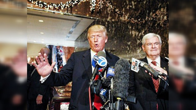 El magnate Donald Trump podría apoyar al candidato republicano Newt Gingrich
