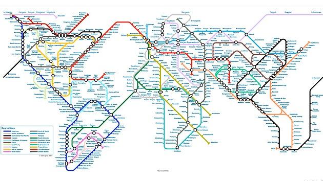 ¿Futuro del transporte público? El mundo como un enorme mapa de metro