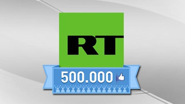 RT en Español alcanza el medio millón de seguidores en su página de Facebook