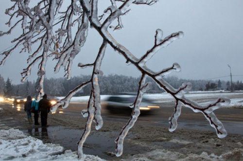 Tormenta de hielo en Moscú
