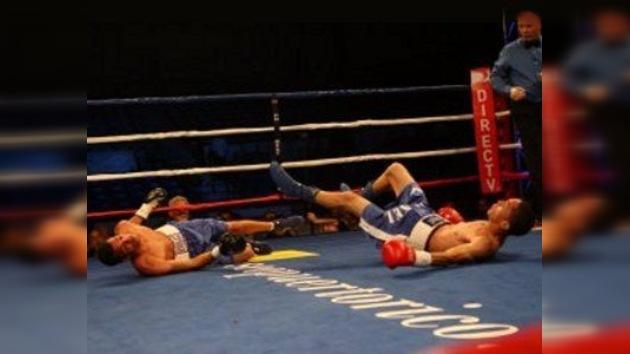 Dos boxeadores puertorriqueños cayeron en un doble 'nockdown'