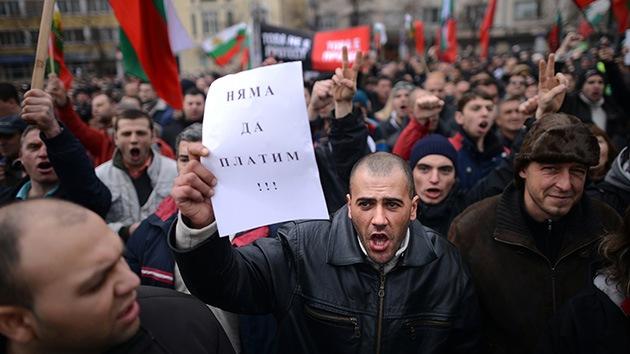 Fotos: Miles de búlgaros protestan contra los altos precios de la electricidad