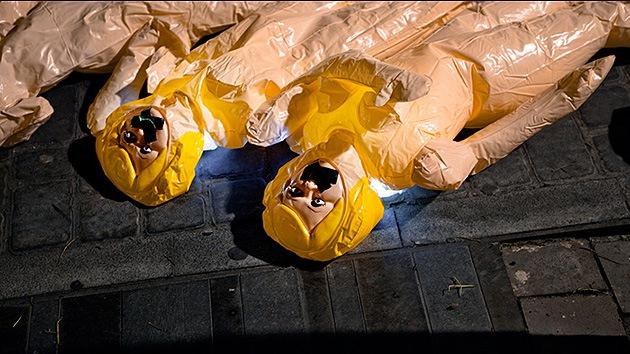 Muñecas hinchables contra la ley antiaborto en España