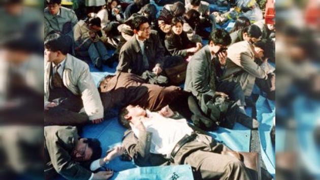Se entrega uno de los líderes  de la secta que atacó el metro de Tokio con gas sarín