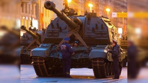 Moscú ensaya el esperado desfile del 9 de mayo de día y de noche