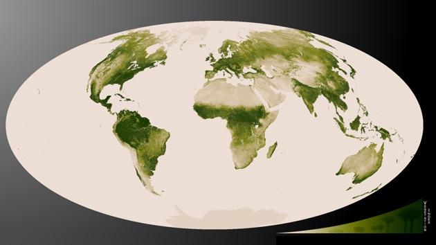 Video, Fotos: La NASA 'pone verde' a la Tierra con el mapa más completo de su vegetación