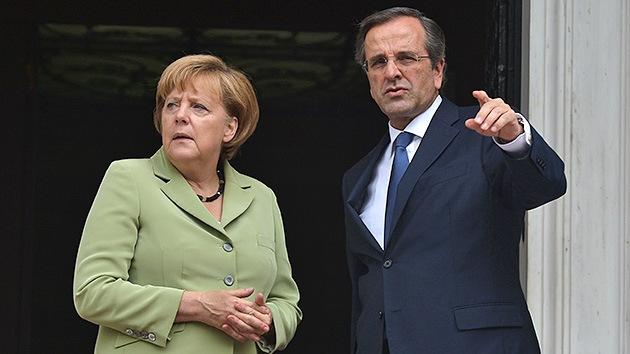 Merkel quiere que Grecia permanezca en la zona euro