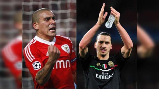 El Milan y Benfica clasifican a los cuartos de final de la Liga de Campeones