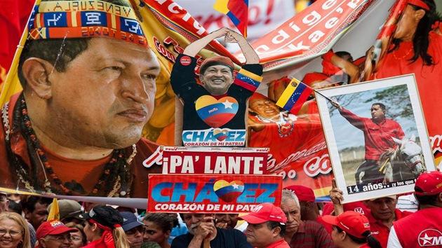 Abrumador apoyo popular a Hugo Chávez en Caracas