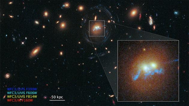 El Hubble capta un 'collar de perlas' que arrojará luz sobre las formaciones estelares