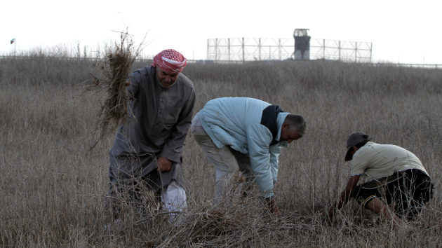 Un palestino, herido por soldados israelíes en la frontera de Gaza