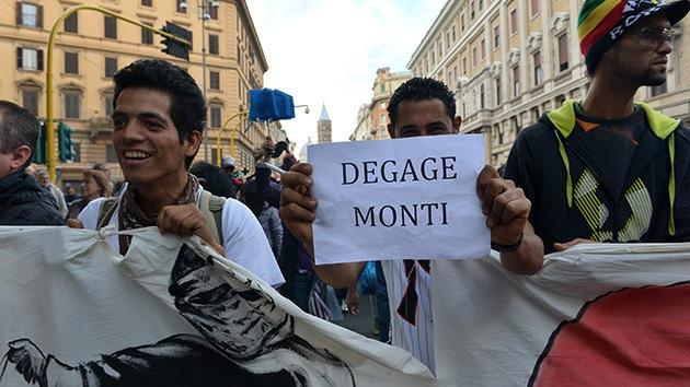 Fotos: 'Un día sin Monti', Roma protesta en contra de la austeridad