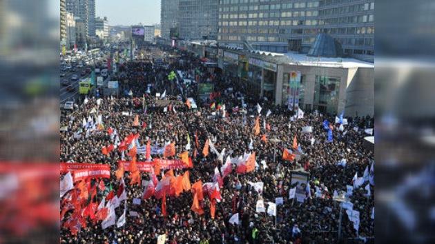 Moscú se manifiesta 'Por unas elecciones justas'