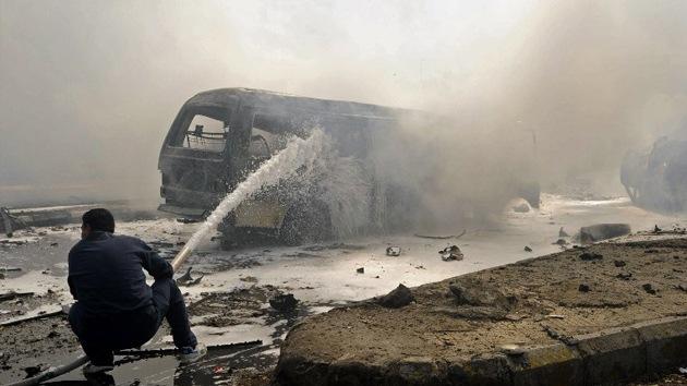 Al menos 19 muertos al estallar una bomba al paso de un autobús en Siria