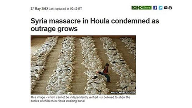 Foto de Irak para ilustrar una masacre en Siria: ¿error o propaganda?