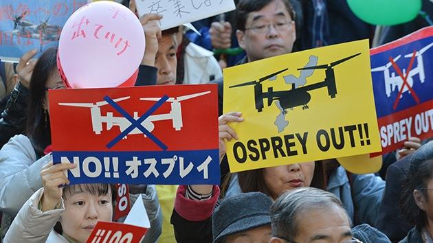 Protestas en Japón contra la presencia militar de EE.UU.