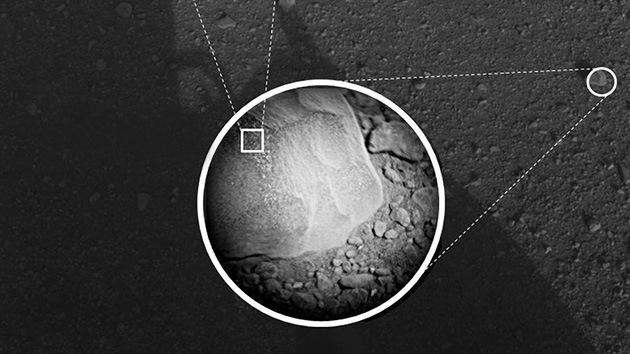 El robot Curiosity desenfunda sus 'armas': pulveriza una roca marciana con su láser