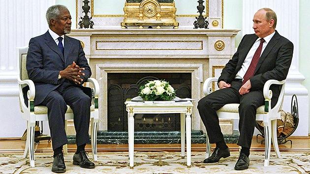 Putin: Rusia hará todo lo posible para respaldar los esfuerzos de Annan en Siria