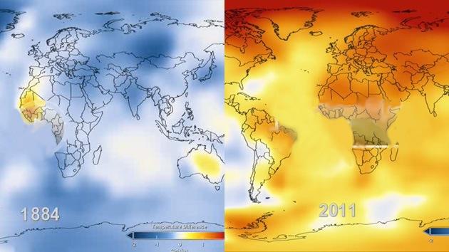 Video: 131 años de cambios climáticos en la Tierra en 26 segundos