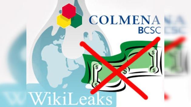 Un banco colombiano no permite a su cliente donar dinero a WikiLeaks