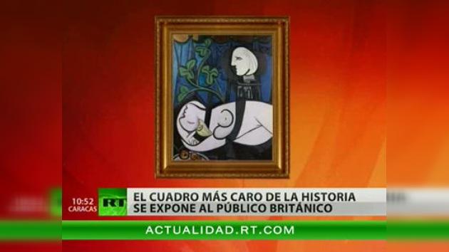 La obra de arte más cara, un óleo de Picasso, se expone en Londres