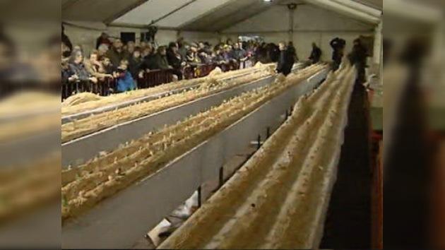 En Bélgica elaboraron el Tronco de Navidad más grande del mundo
