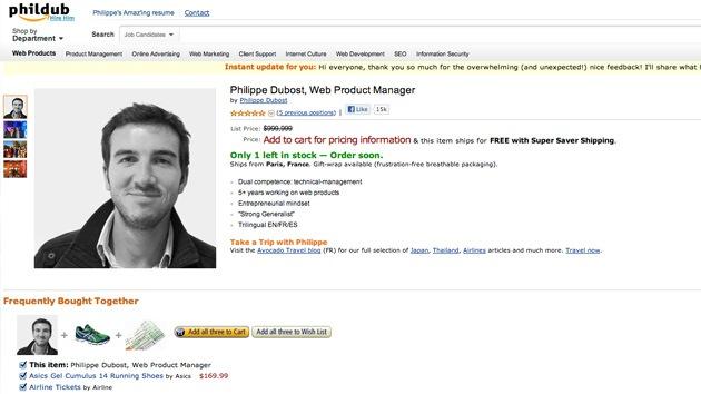 CV que impacta: Se pone a la venta por 999.999 dólares y recibe una ola de ofertas