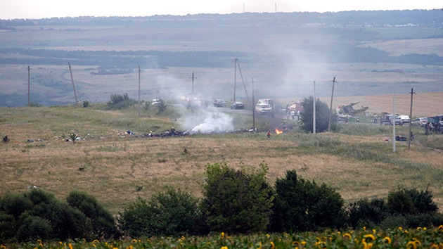"""Testigos de la catástrofe del Boeing en Ucrania: """"Hay cadáveres por todas partes"""""""