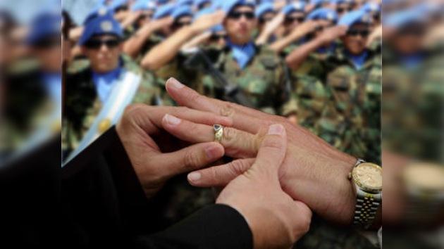 El Ejercito argentino celebra la primera boda gay
