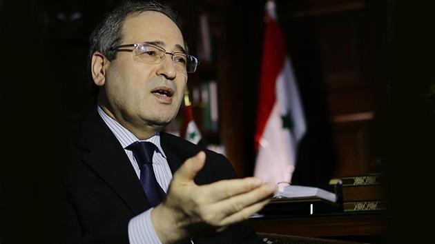 Vicecanciller sirio a Telesur: Israel debe abandonar las armas químicas