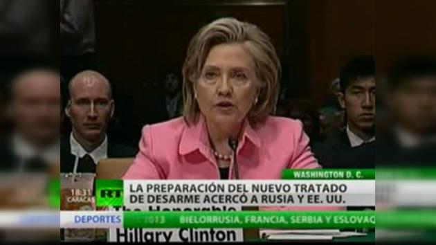 """Hillary Clinton: """"La preparación del nuevo START acercó a Rusia y EE. UU."""""""