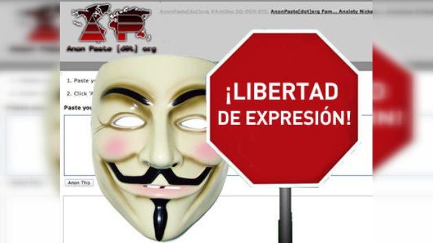 Anonymous invita a su nueva web: 'Suban material sin temor a ser censurados'