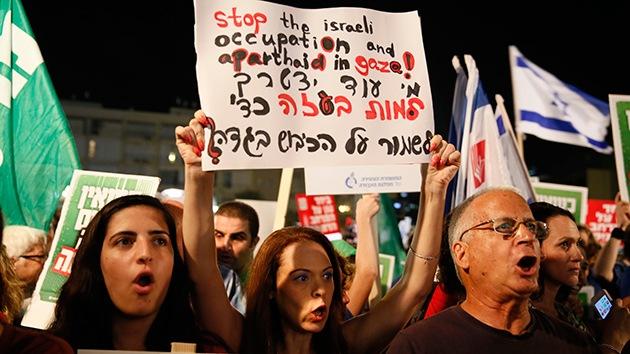FOTOS: Los partidarios de la paz con Gaza se manifiestan en Tel Aviv