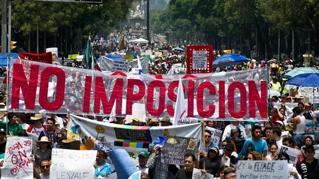 """Sábado de indignación: México protesta contra """"la imposición"""" del presidente electo"""