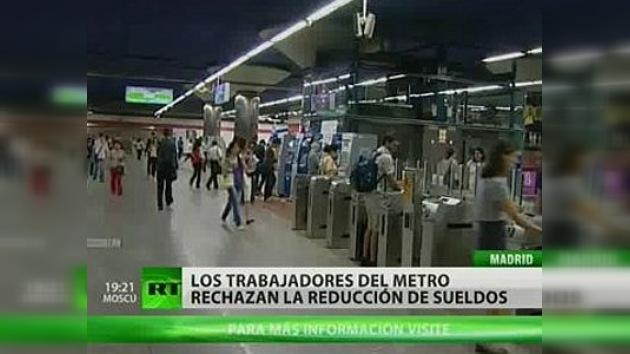 Los trabajadores del metro de Madrid rechazan la reducción de sueldos