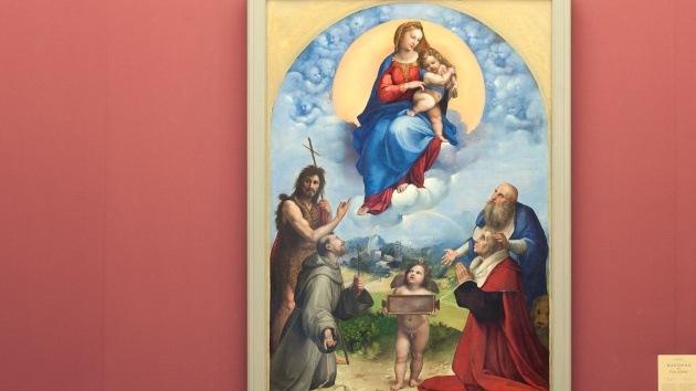 Hallan un cuadro original de Rafael en España