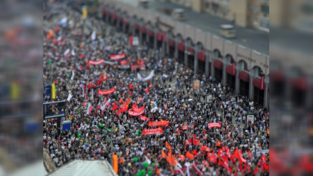 Moscú en directo: festejos y protestas en la víspera de la investidura de Putin