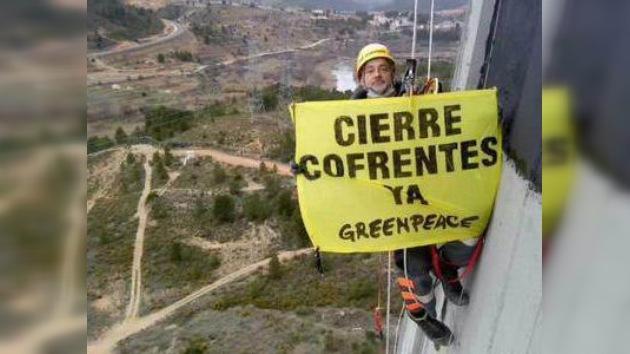 16 detenidos en la protesta de Greenpeace en la central de Cofrentes