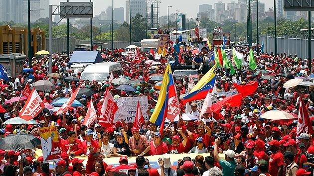 Venezuela: Marcha para conmemorar el fallido golpe de 2002