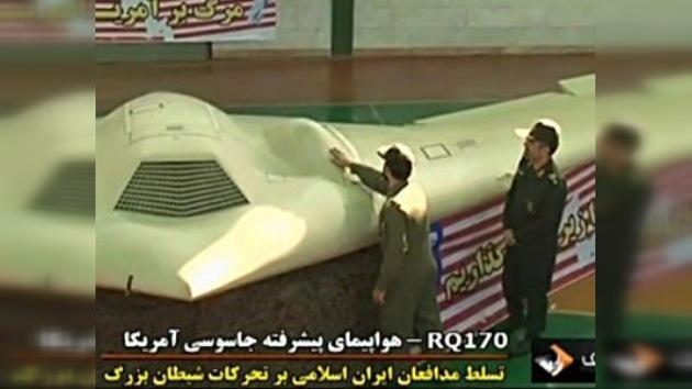 La televisión iraní emite un video del drone estadounidense abatido