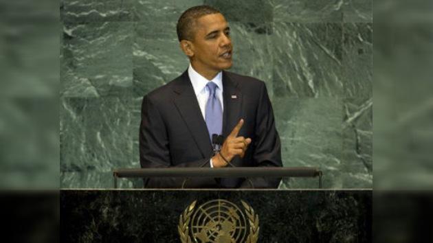 """Obama: """"La paz no puede conseguirse a través de resoluciones de la ONU"""""""