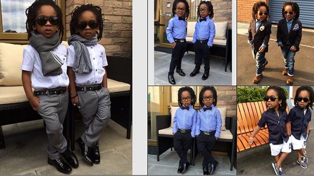 Unos gemelos de tres años causan furor en Internet con sus impecables trajes