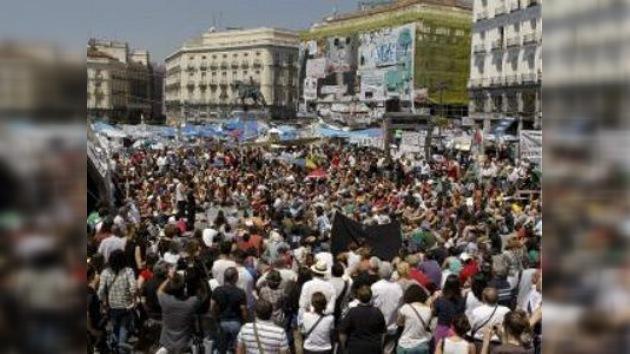 """Indignados de España vuelven a pedir un """"cambio de modelo ya"""""""